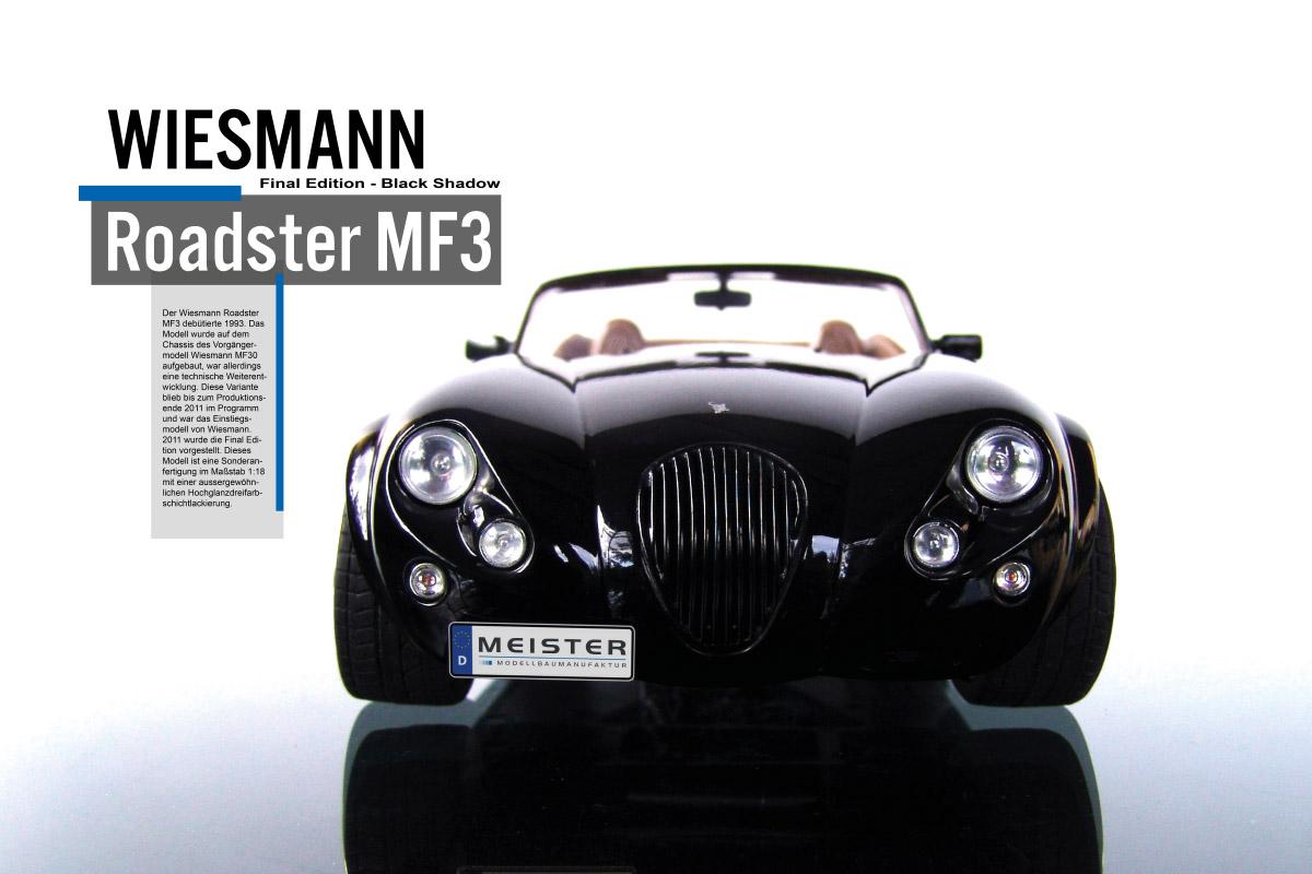 Modellauto Wiesmann Roadster MF3 Fahrzeugmodellbau